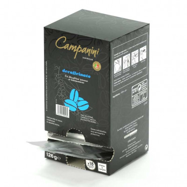 Dosette ESE Campanini Espresso Decaffeinato x 18