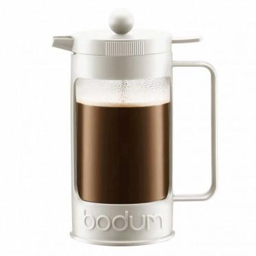 Cafetière filtre / Piston Bodum : Bean Crème 1L + cuillère doseuse
