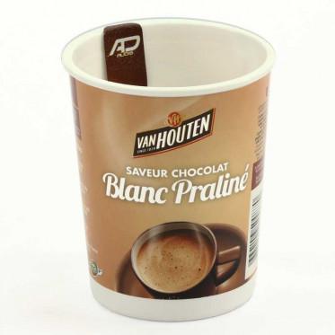 Gobelet Pré-dosé Premium Van Houten Saveur Chocolat blanc praliné - 10 boissons