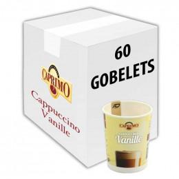 Gobelet pré-dosé premium au carton Caprimo Cappuccino Vanille 60 gobelets