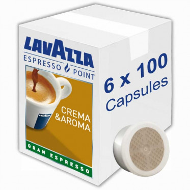 Capsule Lavazza Espresso Point Crema Aroma Gran Espresso - 6 boites - 600 capsules