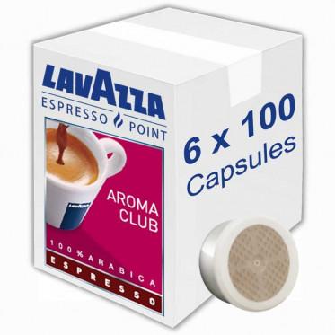 Capsule Lavazza Espresso Point Aroma Club Espresso - 6 boites - 600 capsules
