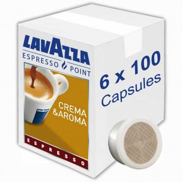 Capsule Lavazza Espresso Point Crema Aroma Espresso - 6 boites - 600 capsules
