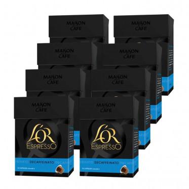 Capsule Nespresso Compatible L'Or Espresso Deca 8 boites - 80 capsules
