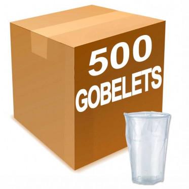 Gobelet en Gros en Plastique sous Emballage Individuel 25 cl - par 500