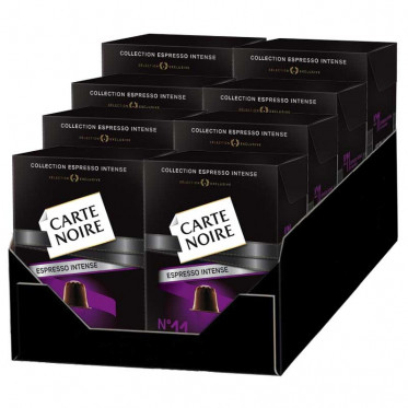 "Capsule Nespresso Compatible Carte Noire n°11 Espresso 'Irrésistible"" 8 boites - 80 Capsules"