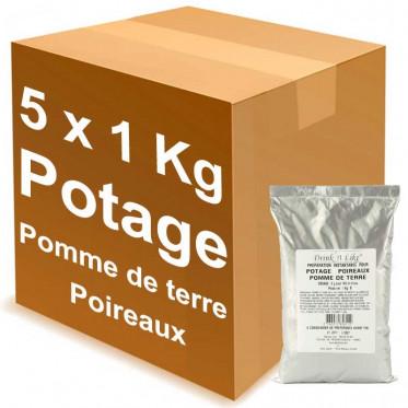 Potage Instantané Distributeur Automatique Drink'n Like Soupe Poireau Pomme de terre - 5 Kg