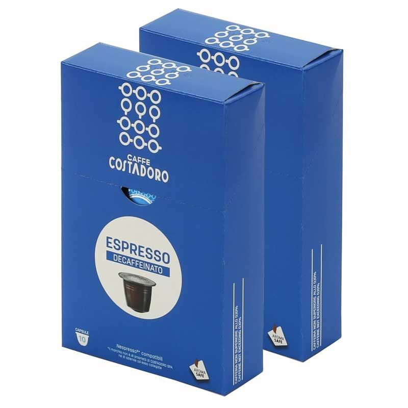 capsule nespresso compatible costadoro espresso d caf inato 2 boites 20 capsules coffee webstore. Black Bedroom Furniture Sets. Home Design Ideas