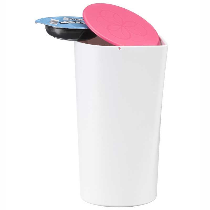 Accessoires tassimo poubelle de table pour t discs for Poubelle de table design