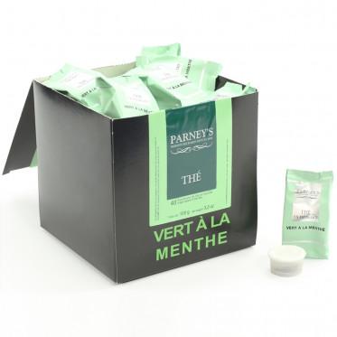 Capsule Cafés Richard Parney's Thé Vert à la Menthe - 40 capsules