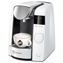 Machine à dosettes Tassimo Joy Blanc et Chrome : Bosch TAS4504