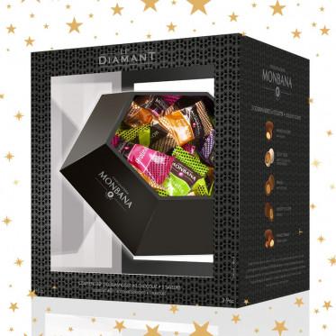 Cadeau d'affaires : Le Diamant 5 gourmandises Monbana - 40 pièces