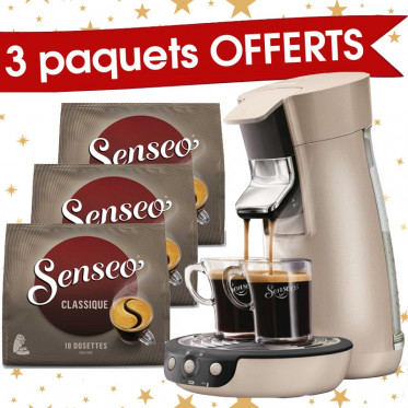 Senseo Viva Café Perle + 3 paquets de Senseo Classique offerts