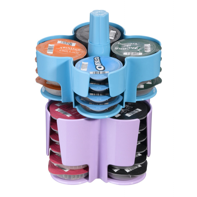 Distributeur capsules tassimo caroussel bleu violet 40 t discs - Support pour t disc tassimo ...