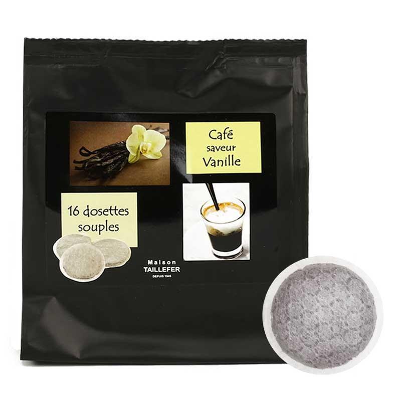 dosette souple maison taillefer café saveur vanille - 16 pads