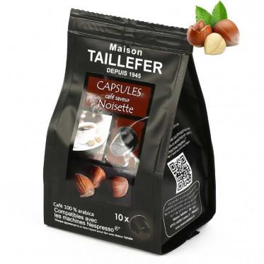 Capsule Nespresso Compatible Maison Taillefer Café Noisette - 10 capsules