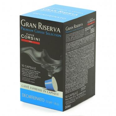 Capsule Nespresso Compatible Caffè Corsini Gran Riserva Déca - 10 capsules