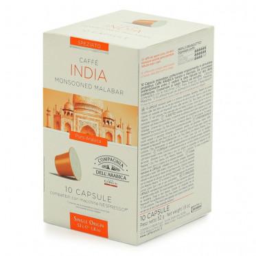 Capsule Nespresso Compatible Cie Dell'Arabica India - 10 capsules
