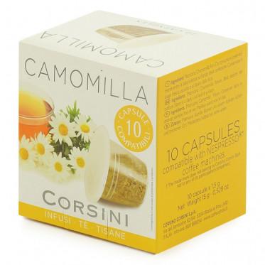 Capsule Nespresso Compatible Corsini Infusion Camomille - 10 capsules