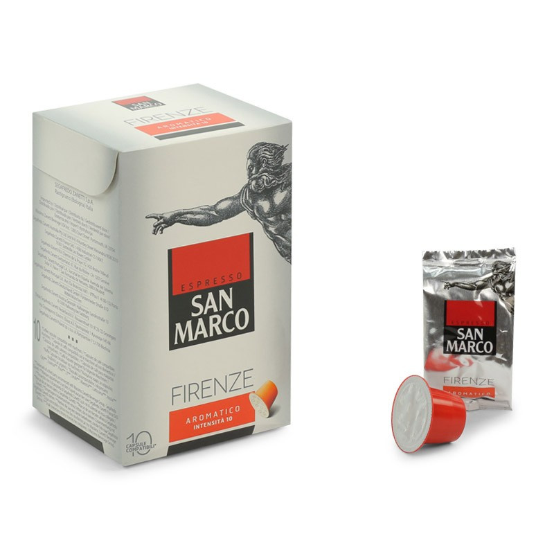 capsule nespresso compatible san marco firenze aromatico 6 boites 60 capsules. Black Bedroom Furniture Sets. Home Design Ideas