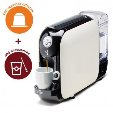 Pack TPE Lavazza Espresso Point Compatible + 400 Capsules + Accessoires