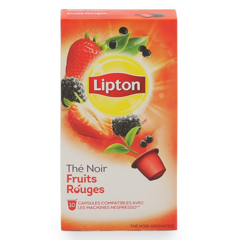 Capsule nespresso compatible lipton th noir fruits rouges 3 boites 30 capsules coffee - To by lipton capsule ...