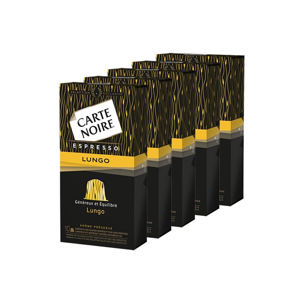 capsule nespresso compatible carte noire n 8 caf lungo fortissime 50 capsules. Black Bedroom Furniture Sets. Home Design Ideas