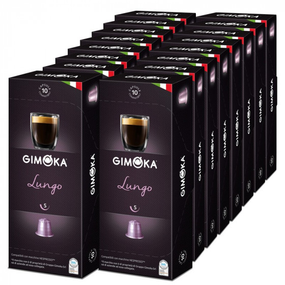 capsule nespresso compatible gimoka lungo 20 boites 200 capsules. Black Bedroom Furniture Sets. Home Design Ideas