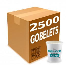 """Gobelets Distributeur Automatique en Carton 15 cl - Message """"Soyez vous-même"""" - par 2500"""