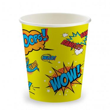 Gobelets Distributeur Automatique en Carton 15 cl - Color Pop Wow Jaune - par 100