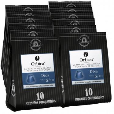 Capsules Nespresso Compatibles Orbica Deca - 12 paquets - 120 capsules