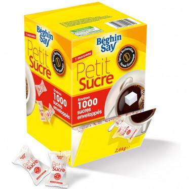 Petit Sucre Beghin-Say - 1 Sucre en Morceau Emballé - 1000 pièces