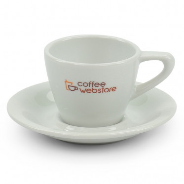 Tasse Coffee Webstore porcelaine : Espresso 8 cl - 6 tasses et sous-tasses