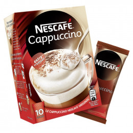 Café Soluble Nescafé® Cappuccino - 10 sticks de 14 gr