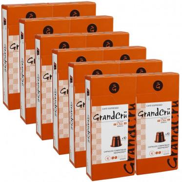 capsules nespresso compatibles grand chic 12 paquets 120 capsules. Black Bedroom Furniture Sets. Home Design Ideas
