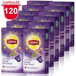 Capsule Nespresso Compatible Thé Noir Finest Earl Grey Lipton - 12 paquets - 120 capsules