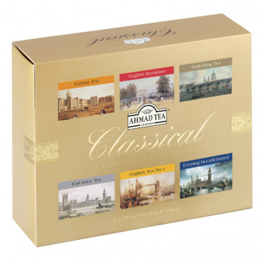 Coffret de Thés Noirs Ahmad Tea London Classical - 6 parfums - 60 sachets
