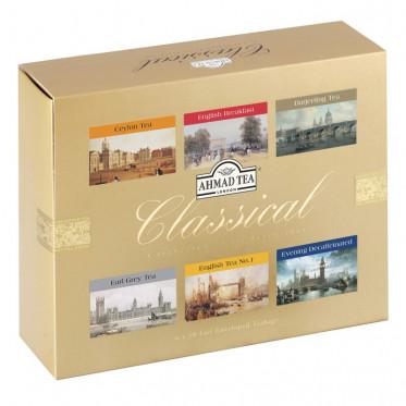 Coffret de Thés Noirs Ahmad Tea London Classical - 6 parfums - 60 sachets