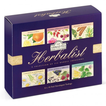 Coffret de Thés Noirs Ahmad Tea London Herbalist - 6 parfums - 60 sachets