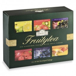 Coffret de Thés Ahmad Tea London Fruitytea - 6 parfums - 60 sachets