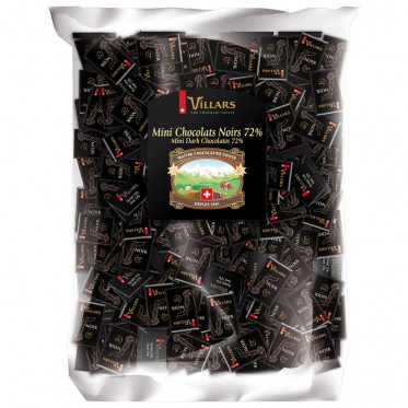 Mini chocolats Napolitains Villars -Chocolat Noir 72% – 2,5 kg