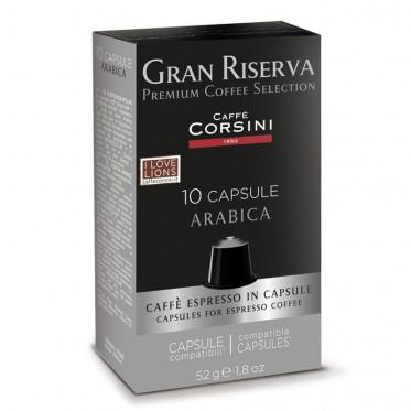 Capsule Nespresso Compatible Caffè Corsini Gran Riserva Arabica - 10 capsules