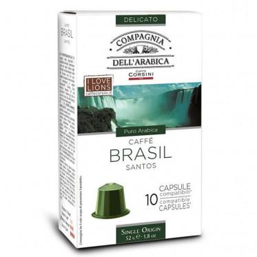 Capsule Nespresso Compatible Compagnia Dell'Arabica Brasil - 10 capsules