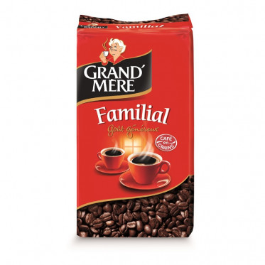 Café en Grains Grand'Mère Familial - 1 Kg