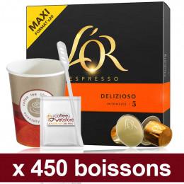 """Capsules Nespresso Compatibles : Pack Pro """"Medium"""" - 450 capsules"""
