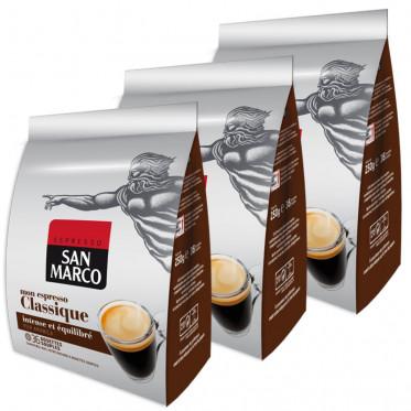 Dosette souple - Lot de 3 paquets Café San Marco Classique