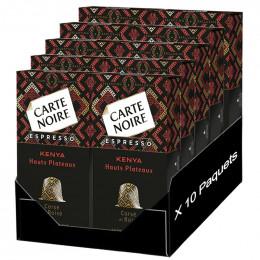 Capsule Nespresso Compatible Carte Noire Hauts Plateaux Kenyans - 100 Capsules - 10 boites