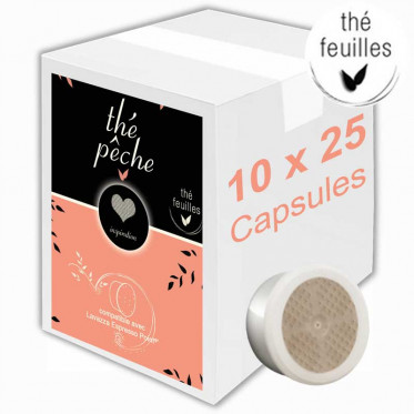 Capsule Lavazza Espresso Point Compatible Inspiration Thé Pêche - 10 boîtes - 250 capsules