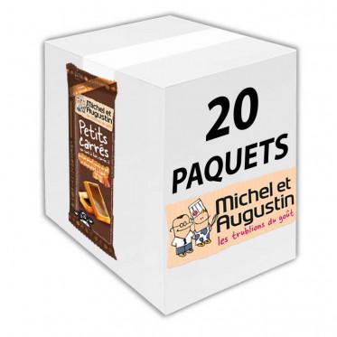 Petits carrés pas tout à fait carrés au caramel, pointe de sel et chocolat au lait 73g - Carton 20 pièces