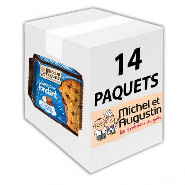 Super Cookies Coeur Fondant au Chocolat Lait et Noisettes - 60 gr - Carton 14 unités
